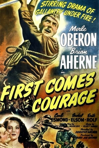 First Comes Courage Movie Poster