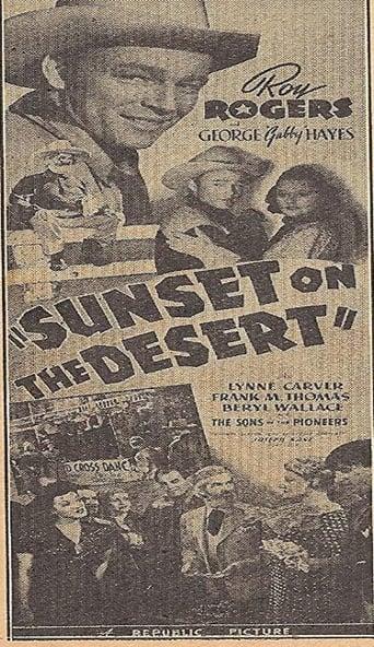 poster of Sunset on the Desert