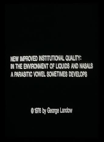 New Improved Institutional Quality: In the Environment of Liquids and Nasals a Parasitic Vowel Sometimes Develops