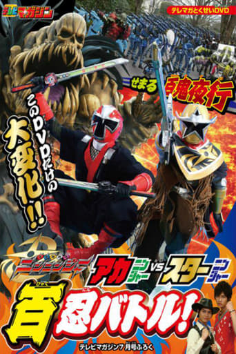 Poster of Shuriken Sentai Ninninger: AkaNinger vs. StarNinger Hundred Nin Battle!