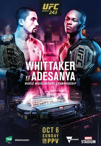 Poster of UFC 243: Whittaker vs. Adesanya
