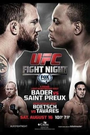 Poster of UFC Fight Night 47: Bader vs. St. Preux