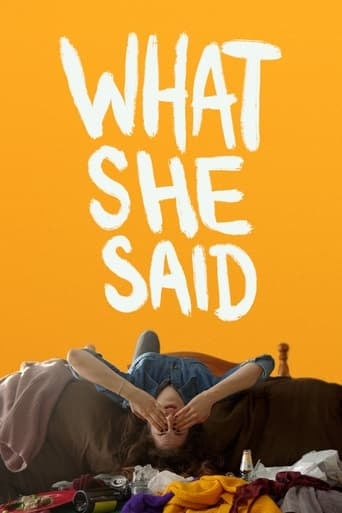 What She Said Poster