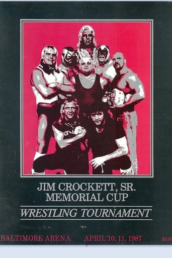 Poster of Jim Crockett Sr., Memorial Cup Wrestling Tournament 1987