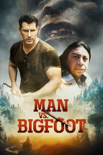 Poster Man vs Bigfoot