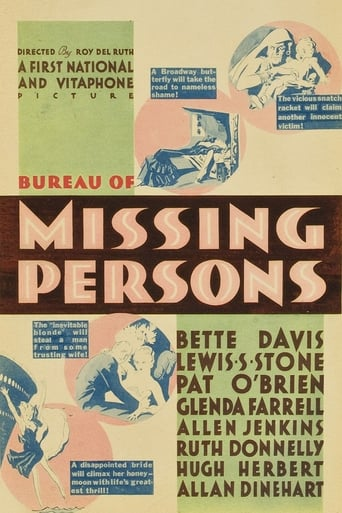 Poster of Bureau of Missing Persons