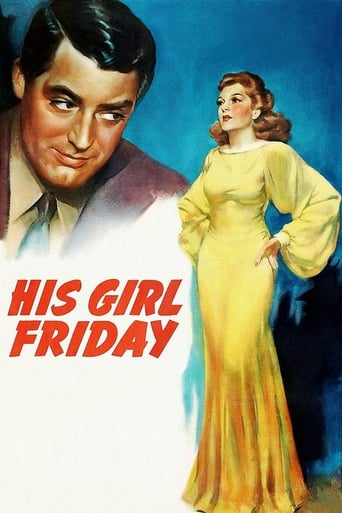 Official movie poster for His Girl Friday (1940)
