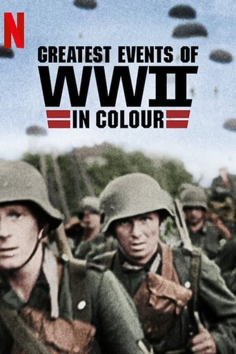Greatest Events of WWII in Colour Poster