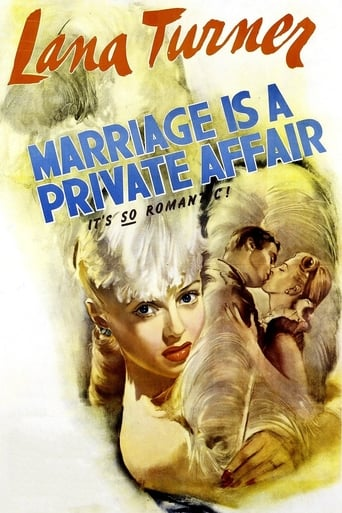 Poster of Marriage Is a Private Affair
