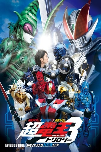 Poster of Cho Kamen Rider Den-O Trilogy - Episode Blue: The Dispatched Imagin is Newtral