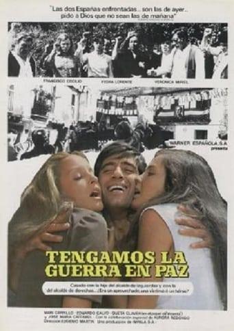 Poster of Tengamos la guerra en paz