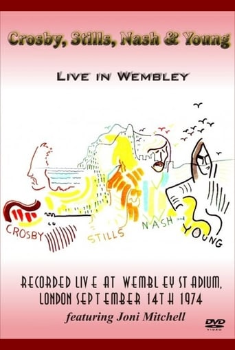 Poster of Crosby, Stills, Nash & Young - Live in Wembley 1974