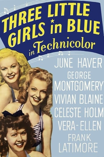 Poster of Three Little Girls in Blue