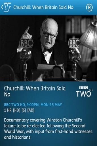 Poster of Churchill: When Britain Said No