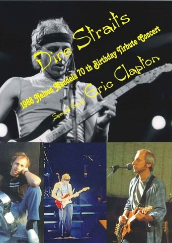 Poster of Dire Straits with Eric Clapton - Nelson Mandela 70th Birthday Tribute