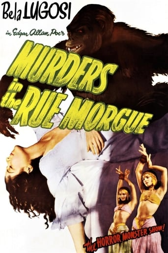 Poster of Murders in the Rue Morgue