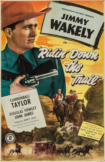 Poster of Ridin' Down the Trail