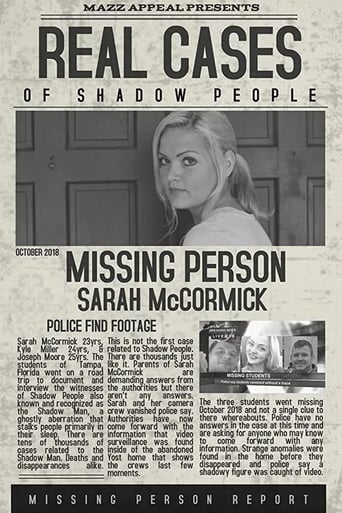 Real Cases of Shadow People: The Sarah McCormick Story Movie Poster