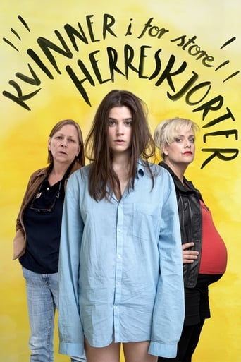 Poster of Women in Oversized Men's Shirts