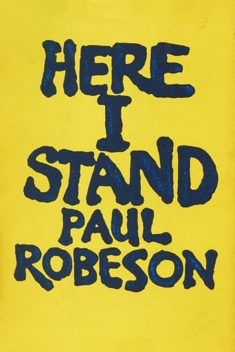 Poster of Paul Robeson: Here I Stand