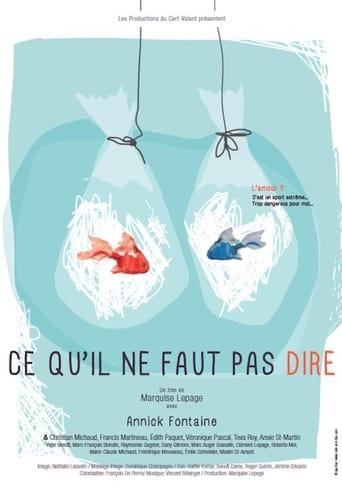 Poster of Ce qu'il ne faut pas dire
