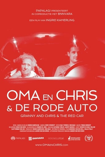 Oma en Chris & de rode auto
