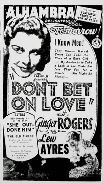 Poster of Don't Bet on Love