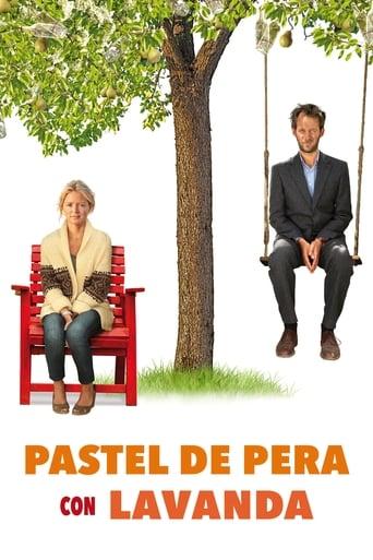 Poster of Pastel de pera con lavanda