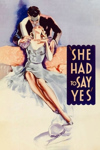 Poster of She Had to Say Yes