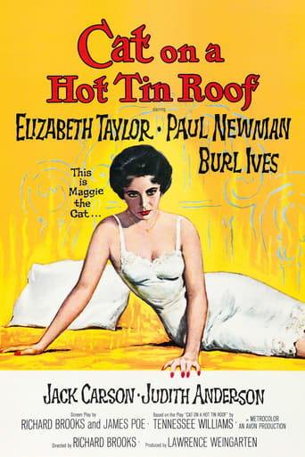 Official movie poster for Cat on a Hot Tin Roof (1958)