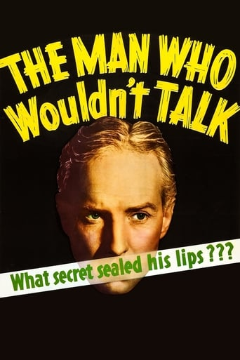 Poster of The Man Who Wouldn't Talk