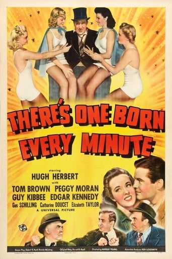 Official movie poster for There's One Born Every Minute (1942)
