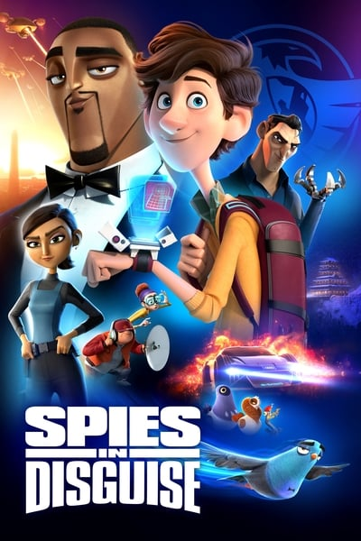 Poster of Spies in Disguise 2019 Full English Free Download Watch Online In HD Movie Download 720p BluRay