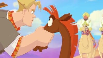 Конь Юлий и большие скачки - кадр из мультфильма