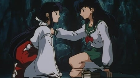 Kikyo and Kagome, Alone in the Cave