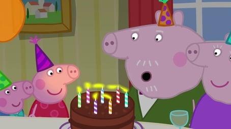 Grandpa Pig's birthday