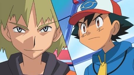 Zwei Rivalen im Pokémon-Kampf