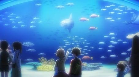 Sakura's Thrilling Aquarium Visit