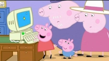 Grandpa Pig's Computer