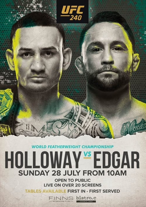 watch UFC 240: Holloway vs. Edgar full movie online stream free HD