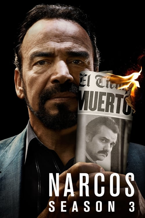 Cover of the Season 3 of Narcos