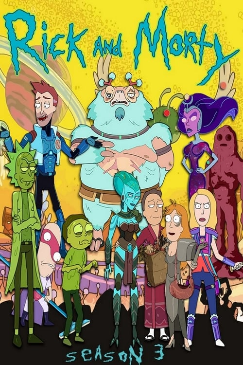Cover of the Season 3 of Rick and Morty