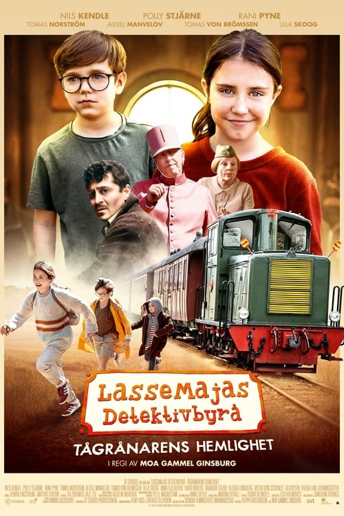 Poster för LasseMajas Detektivbyrå - Tågrånarens hemlighet