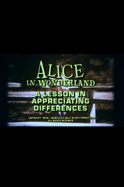 Filme Alice in Wonderland: A Lesson in Appreciating Differences Em Português Online
