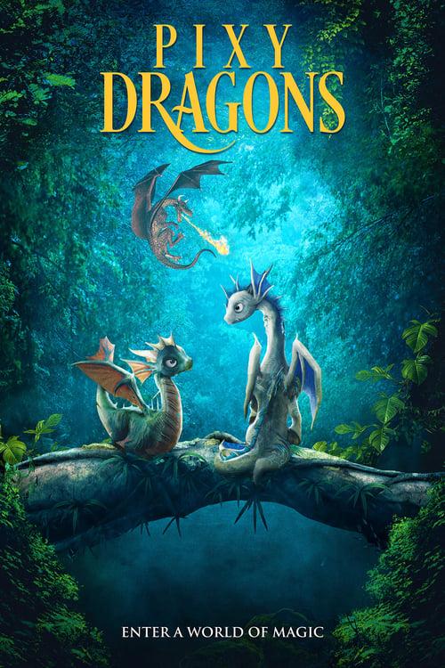 Pixy Dragons Poster
