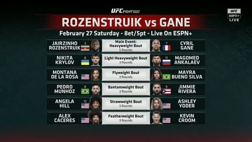 UFC Fight Night 186: Rozenstruik vs. Gane