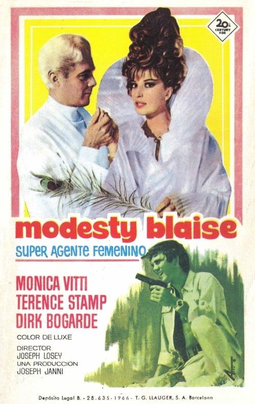Mira Modesty Blaise, superagente femenino Con Subtítulos En Línea