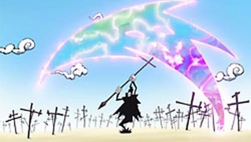 Shinigami-sama com uma Death Scythe. Ninguém sabe o que o futuro reserva?