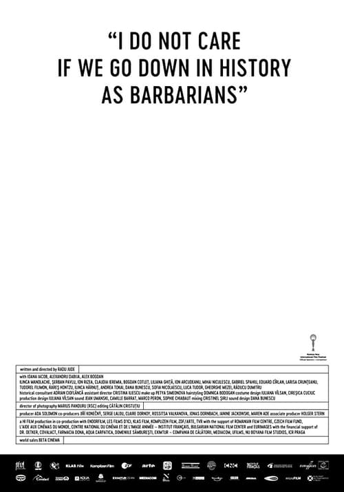 Regarder $ I Do Not Care If We Go Down in History as Barbarians Film en Streaming VF