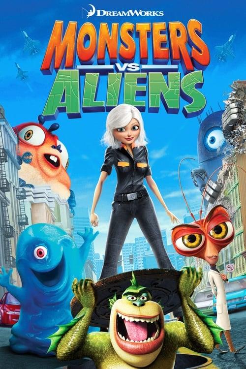 Monsters vs Aliens - Poster